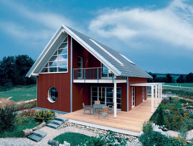 Skandinavisches haus innen  Rotes Skandinavisches Haus - Ideen, Design & Bilder