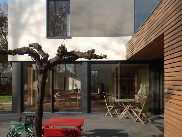 Terrasse Zwischen Wohnzimmer Und Kche Minimalistisch Haeuser