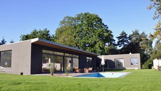 umbau eines 70er jahre bungalow modern h user. Black Bedroom Furniture Sets. Home Design Ideas
