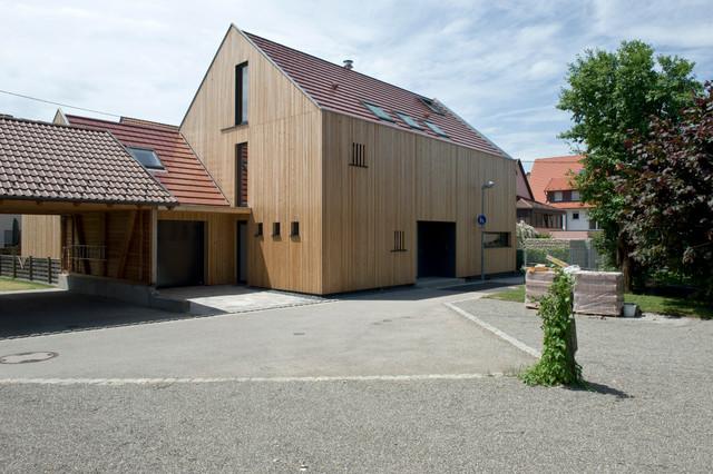 umbau sanierung eines bestehenden wohnhauses mit scheune modern haus fassade stuttgart. Black Bedroom Furniture Sets. Home Design Ideas