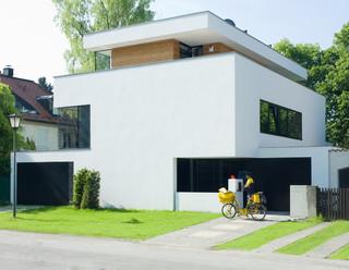 villa h modern haus fassade m nchen von tom. Black Bedroom Furniture Sets. Home Design Ideas