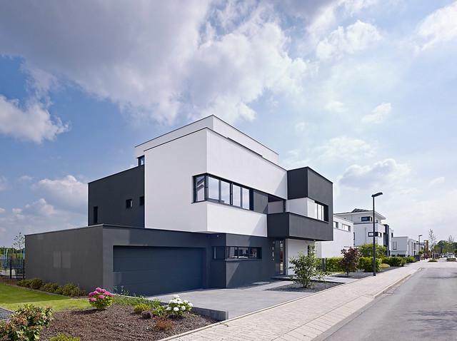 villa l k ln deutschland modern haus fassade other metro von guido erbring. Black Bedroom Furniture Sets. Home Design Ideas