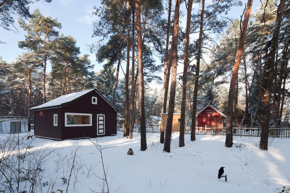 Aménagement d'une façade de maison scandinave.