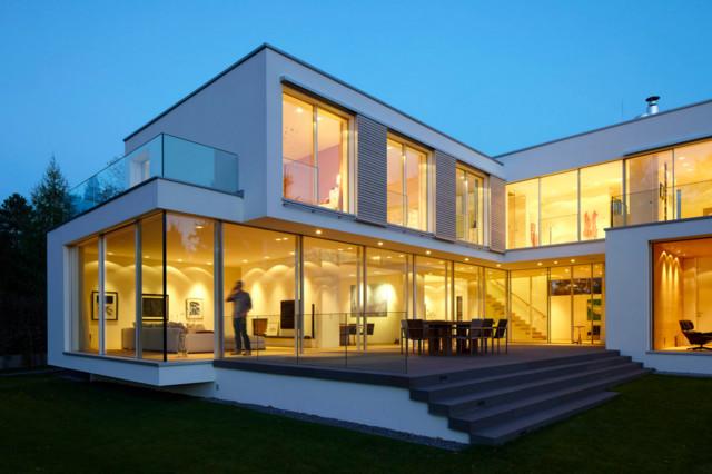 Wohnh user modern h user d sseldorf von michael reisch for Modernes haus 2 etagen