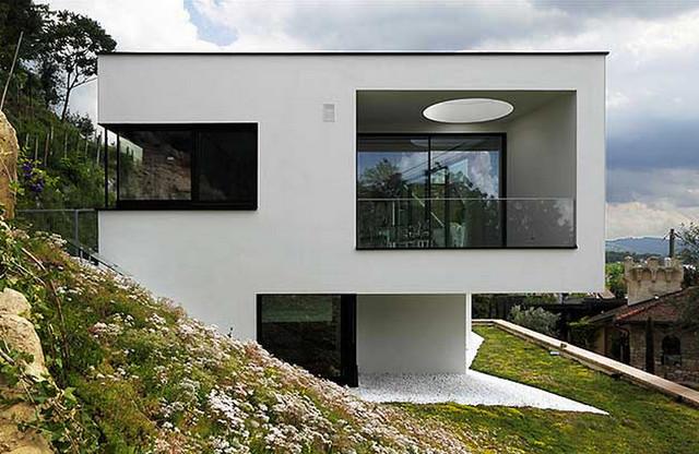 Fassade modern  Wohnhaus Fassade - Modern - Häuser - Nürnberg - von Huber ...