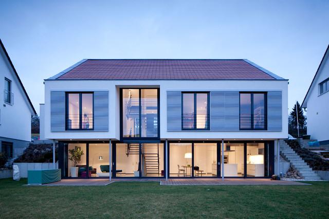 Wohnhaus w1 modern haus fassade berlin von for Haus mit satteldach modern