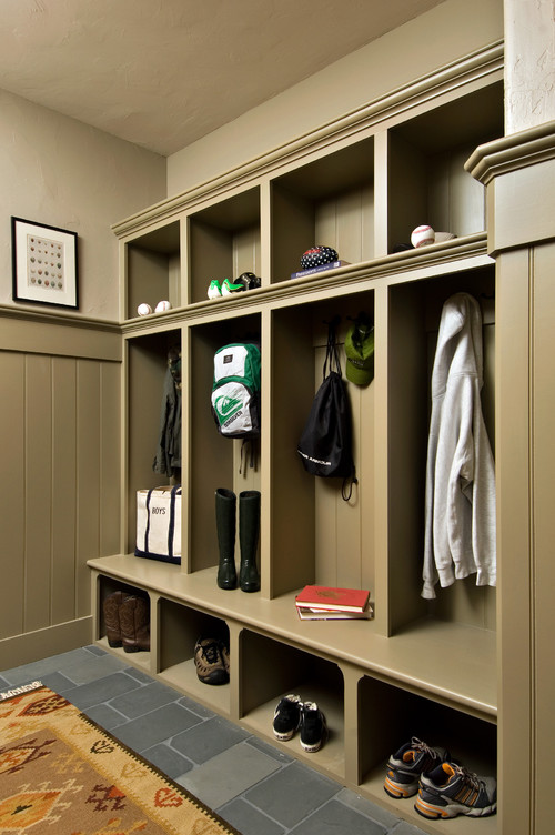 farmhouse hall Use Your Hallway as Storage Space