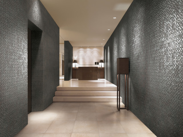 2012 Tile Trends Photography - Living Spaces with Coverings Preview contemporary-hall