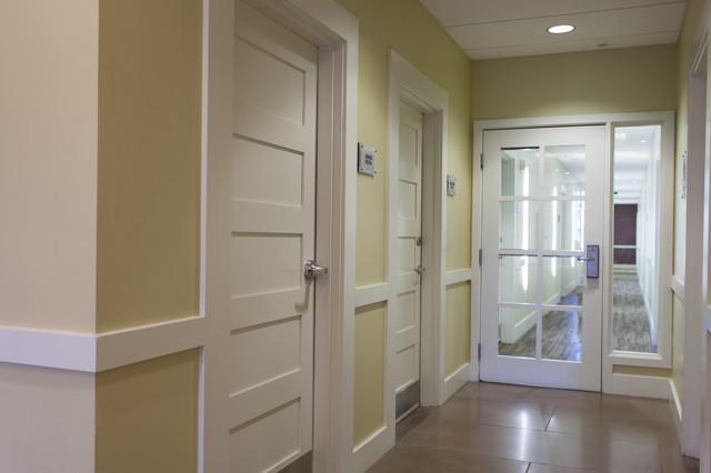 5 Equal Panel Doors u0026 8 Lite Glass Doors modern-corridor & 5 Equal Panel Doors u0026 8 Lite Glass Doors - Modern - Corridor ...