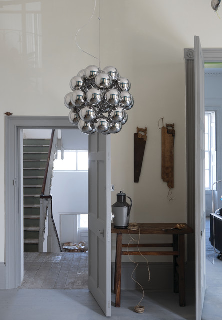 A hallway painted in Shadow White No.282 by Farrow & Ball ...