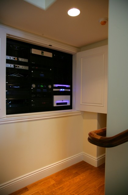 A/V Equipment Rack modern-hall