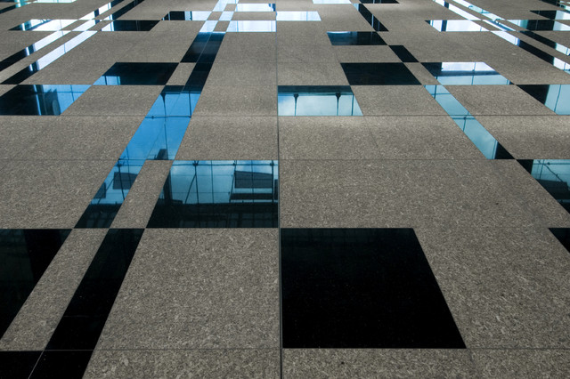 Absolute Black Polished And Flamed Granite Hall