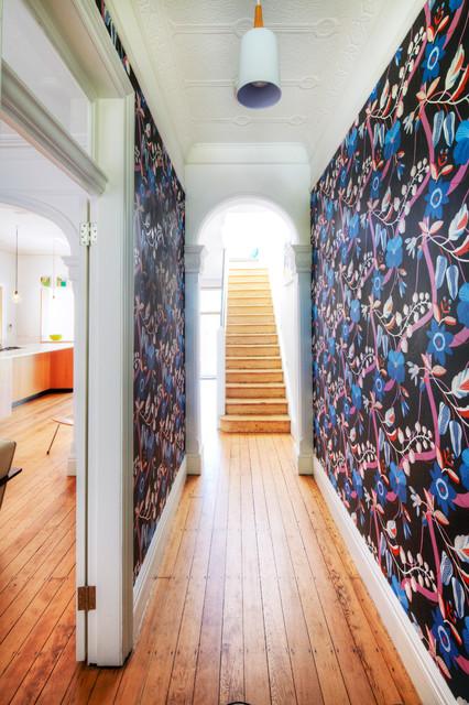 Alexandria terrace house contemporary hall sydney