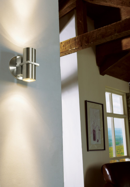 Alpine Wall Sconce in Hallway - Contemporary - Hall - chicago - by Lightology