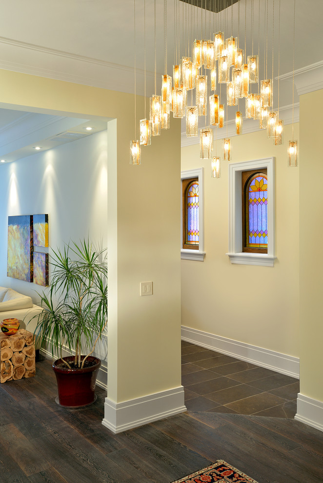 Inspiration for a contemporary hallway remodel in Toronto