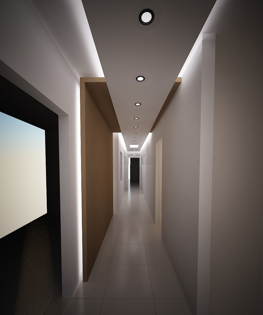 Apartment modern hall other metro by mo designs for Apartment lighting design