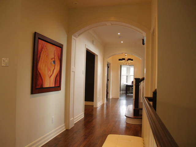 Arched Paneled Passage Way Custom Built In Cabinetry