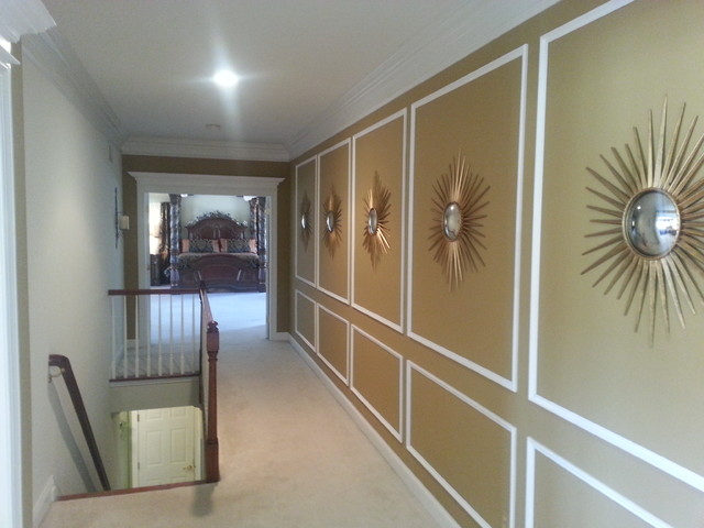 Architectural Shadow Box Wainscoting Traditional Hall