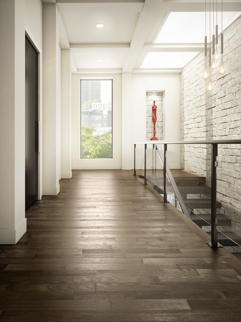 Ash Hardwood Flooring Contemporary Hall