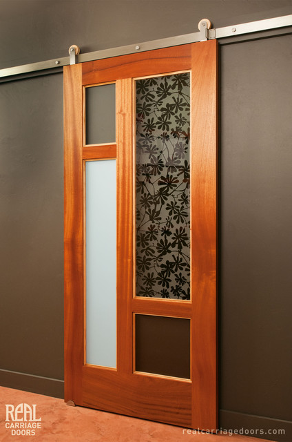 Modern Sliding Door With Stainless Steel Hardware Asian