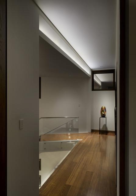 Asymmetrical Cove Light Modern Hallway Amp Landing