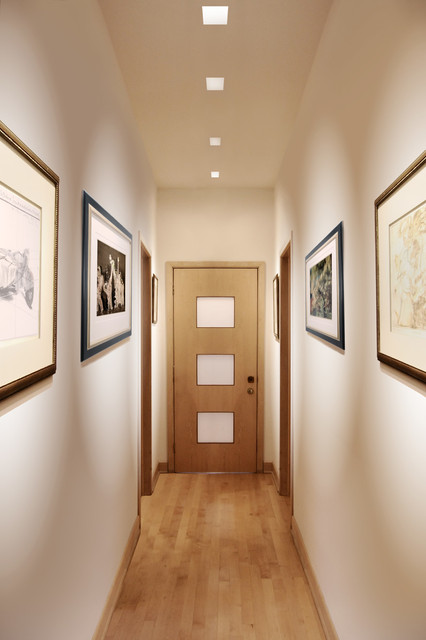 Contemporary Hall Wall Lights : Aurora Dual Accent Square 3.3 Inch Recessed - Contemporary - Hall - other metro - by Lightology