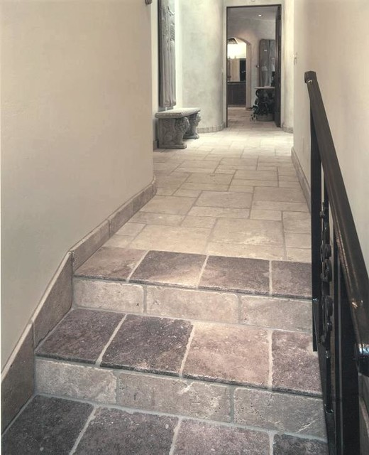 Authentic durango ancient veracruz hallway tile rustic for Tiled hallway floor ideas