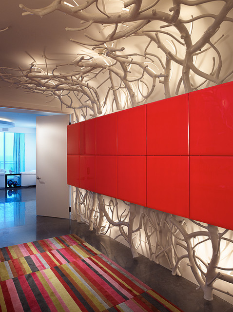 Bal Harbour penthouse contemporary-hall