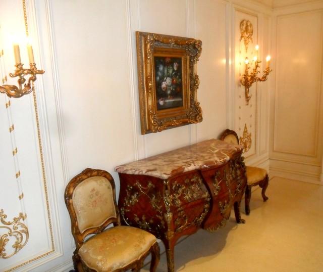Balboa Island French Hallway traditional-hall