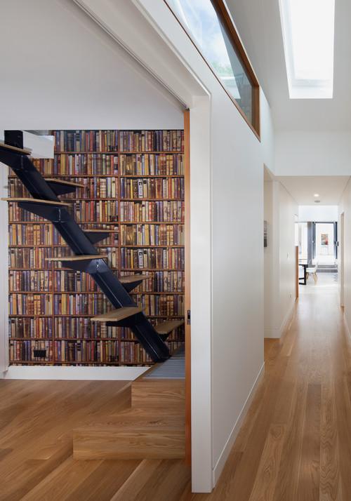Balmain Residence - Hallway Entrance and Study by studioJLA