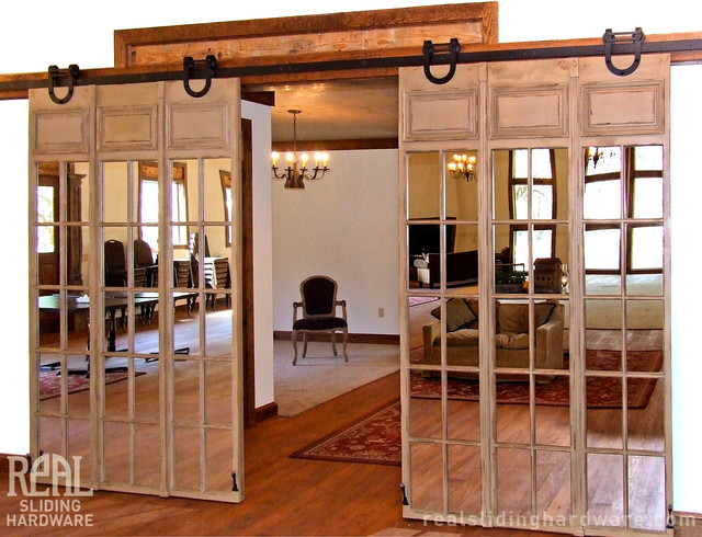 Barn Door Hardware Traditional Hall Atlanta By