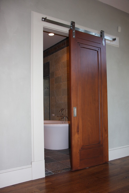 Bathroom Door Ideas For Small Spaces : We are remodeling two small bathrooms and would consider