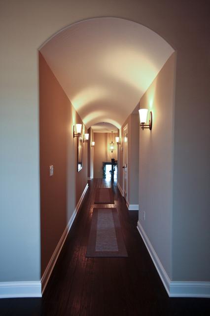 Barrel Ceiling Hallway Transitional Hallway And Landing