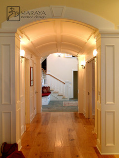 Barrel Vault Paneled Arched Hallway - Traditional - Hall - Los Angeles - by Maraya Interior Design