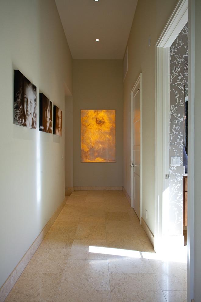 Example of a minimalist hallway design in Austin