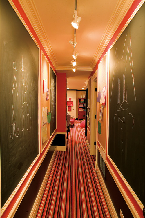 Basement Hallway with Chalk Walls