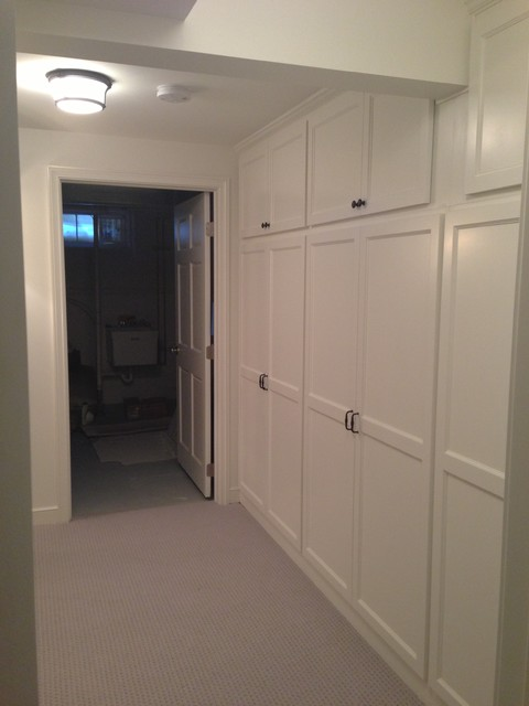 Delightful Basement Remodel   Adding More Storage In A Small Space Traditional Hall