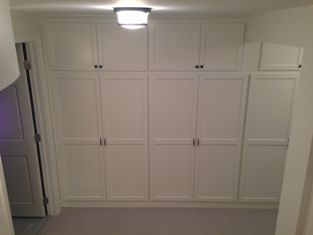 Basement Remodel - Adding more storage in a small space - Traditional - Hall - minneapolis - by ...