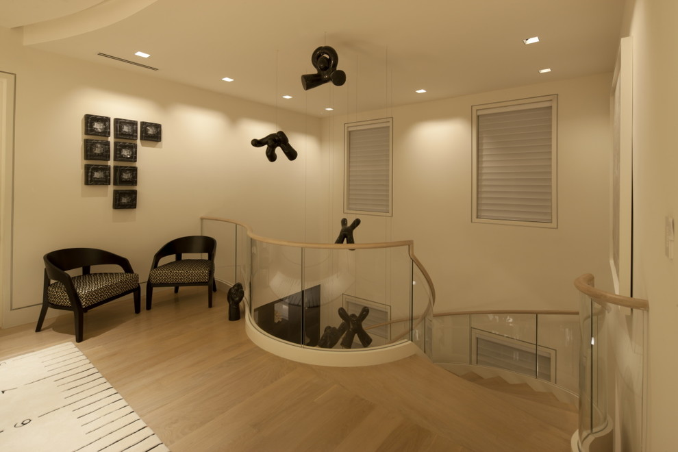 Inspiration for a modern hallway remodel in Other
