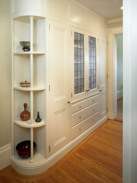 Beacon Hill Condominium - Hall Cabinets - Traditional - Hall - boston - by Frank Shirley Architects