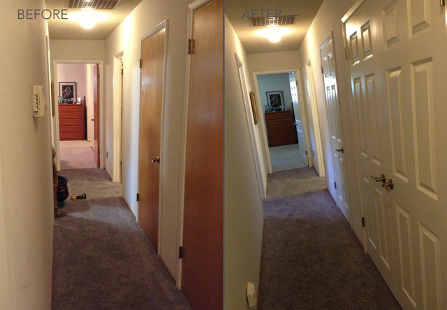 Before and After Transformations - Modern - Hall - san ...