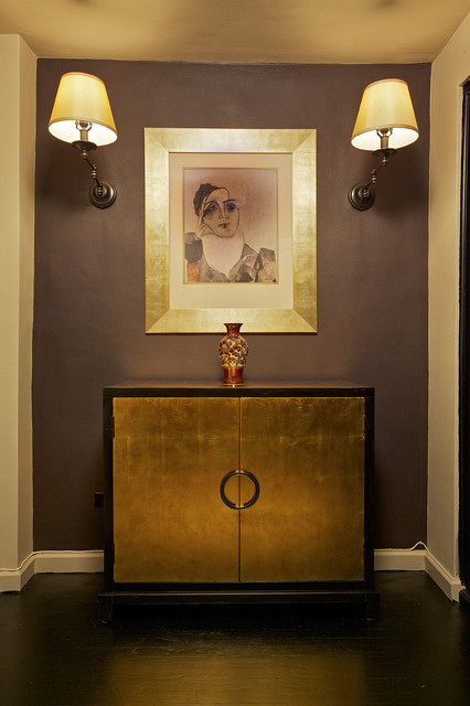 Black & Gold Residence eclectic-hall