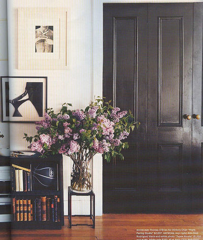 black french doors hall