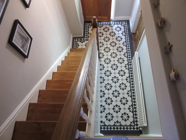 Black White Pale Grey Victorian Hallway Victorian Hallway