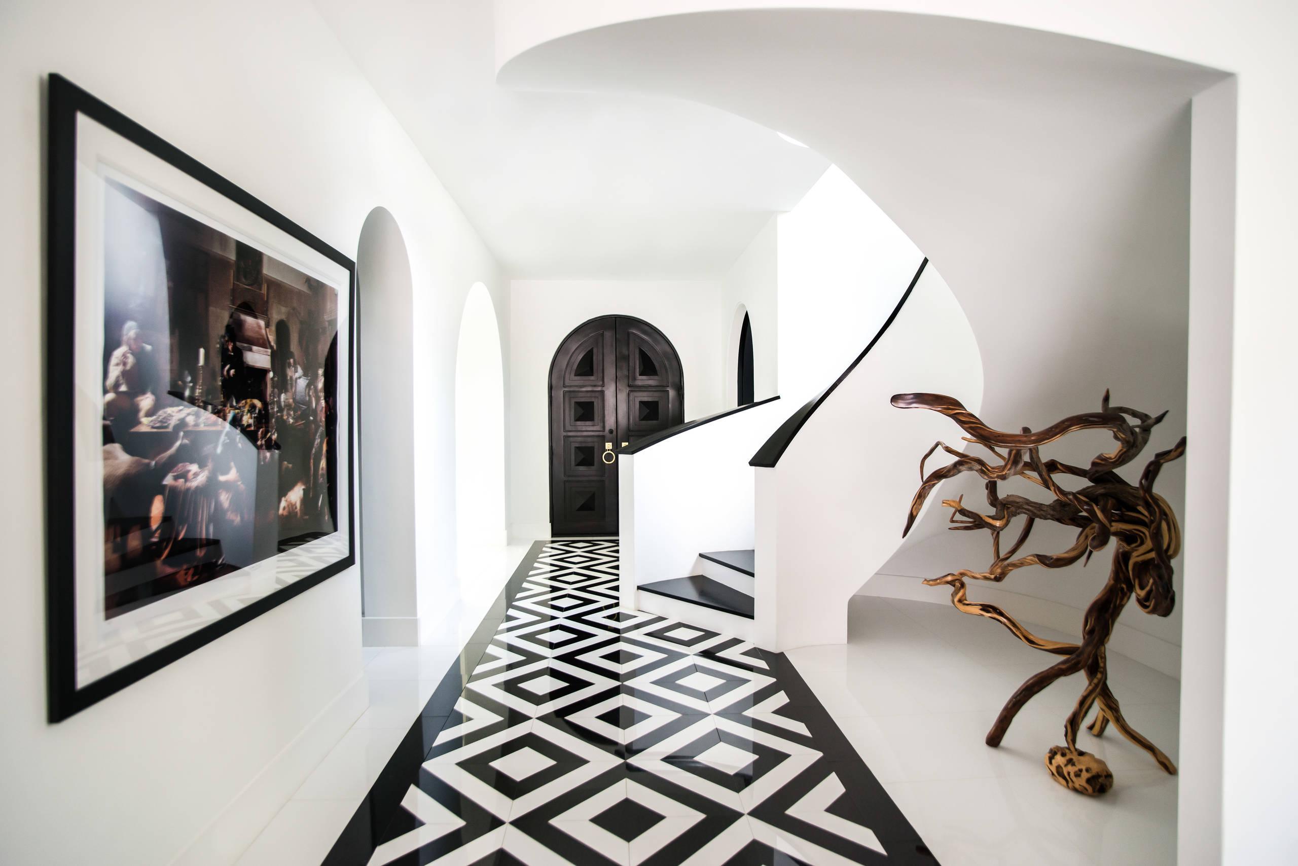 75 Beautiful Marble Floor Hallway Pictures & Ideas - August, 2021 | Houzz