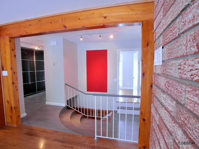 brick arch house contemporary hall ottawa by 7j