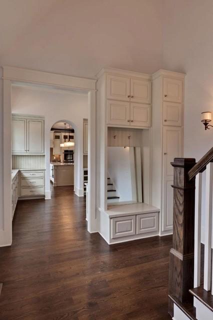 Brookhaven Custom Home - Contemporary Tudor traditional-hall