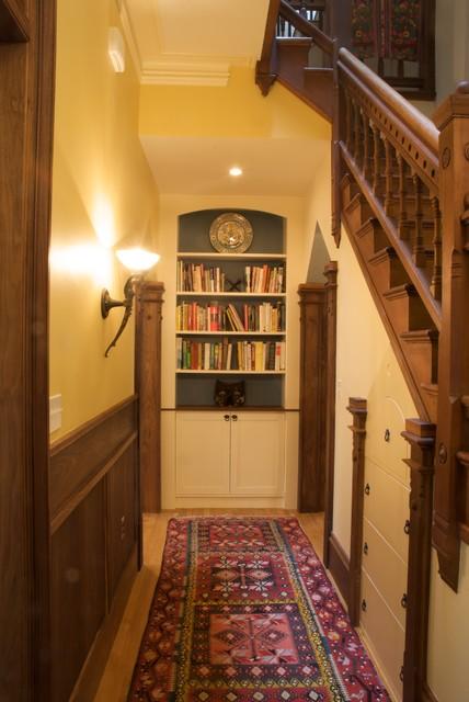 Brookline Row House Renovation traditional-hall