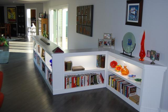 Built in Book Shelves modern-hall