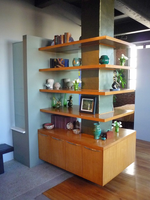 Built In Wrap Around Bookcase Modern Hall Los